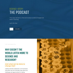 Podcast opening page