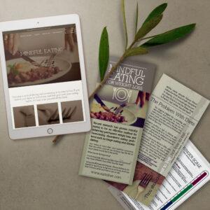 Display of website, brochures