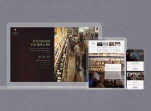 Website design for wine shop